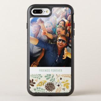 Coque Otterbox Symmetry Pour iPhone 7 Plus Motif de papillon floral de photo et de textes