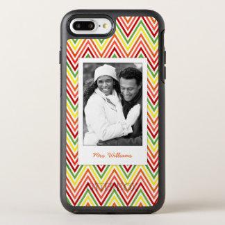 Coque Otterbox Symmetry Pour iPhone 7 Plus Motif de photo et de Chevron de zigzag de nom