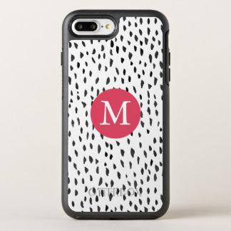 Coque Otterbox Symmetry Pour iPhone 7 Plus Motif de points tiré par la main Girly décoré d'un