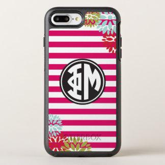 Coque Otterbox Symmetry Pour iPhone 7 Plus Motif de rayure de monogramme de la MU | de phi