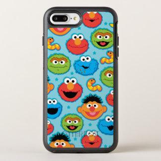 Coque Otterbox Symmetry Pour iPhone 7 Plus Motif de visages de Sesame Street sur le bleu