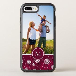 Coque Otterbox Symmetry Pour iPhone 7 Plus Motif floral abstrait de photo et de monogramme