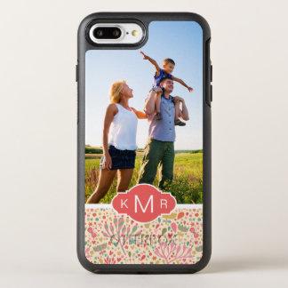 Coque Otterbox Symmetry Pour iPhone 7 Plus Motif floral lumineux de photo et de monogramme