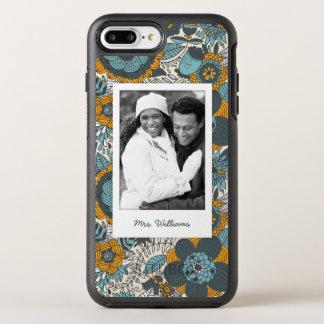 Coque Otterbox Symmetry Pour iPhone 7 Plus Motif floral vintage de photo et de nom