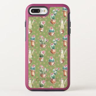 Coque Otterbox Symmetry Pour iPhone 7 Plus Motif vert d'étape | de fleur de désert