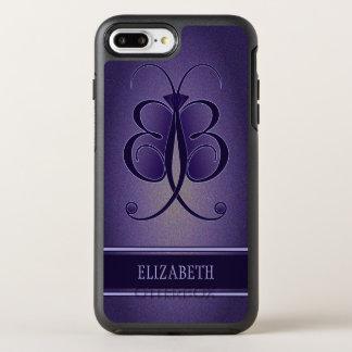 Coque Otterbox Symmetry Pour iPhone 7 Plus Papillon lunatique assez pourpre OtterBox robuste