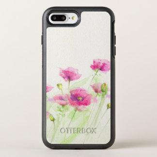 Coque Otterbox Symmetry Pour iPhone 7 Plus Pavots peints 3 d'aquarelle