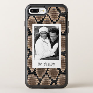 Coque Otterbox Symmetry Pour iPhone 7 Plus Peau de photo et de serpent de nom
