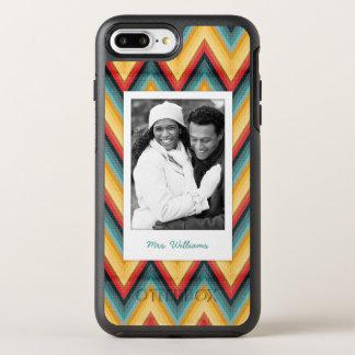 Coque Otterbox Symmetry Pour iPhone 7 Plus Photo et arrière - plan rayé 2 de zigzag de nom