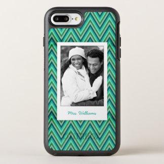 Coque Otterbox Symmetry Pour iPhone 7 Plus Photo et arrière - plan rayé de zigzag de nom