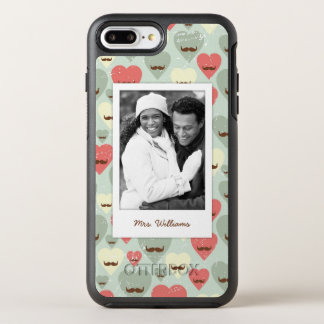 Coque Otterbox Symmetry Pour iPhone 7 Plus Photo et coeur et moustache nommés de Valentine
