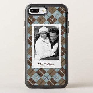 Coque Otterbox Symmetry Pour iPhone 7 Plus Photo et motif à motifs de losanges de nom dans le
