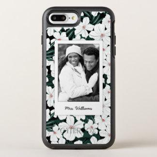 Coque Otterbox Symmetry Pour iPhone 7 Plus Photo et motif de fleurs tropical blanc de nom
