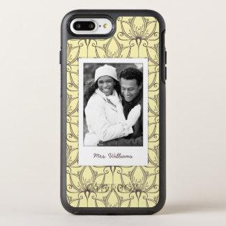 Coque Otterbox Symmetry Pour iPhone 7 Plus Photo et motif floral crème de nom