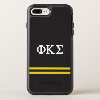 Coque Otterbox Symmetry Pour iPhone 7 Plus Rayure de sport du sigma | de Kappa de phi