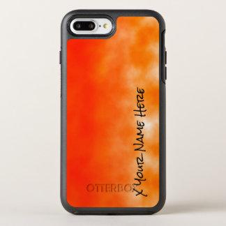 Coque Otterbox Symmetry Pour iPhone 7 Plus Regard chimique orange au néon 2 de lueur