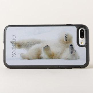 Coque Otterbox Symmetry Pour iPhone 7 Plus Roulement d'ours blanc dans la neige, Norvège