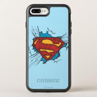Coque Otterbox Symmetry Pour iPhone 7 Plus S-Bouclier   de Superman dans le logo de nuages