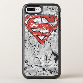 Coque Otterbox Symmetry Pour iPhone 7 Plus Superman a stylisé le logo comique chiffonné par  