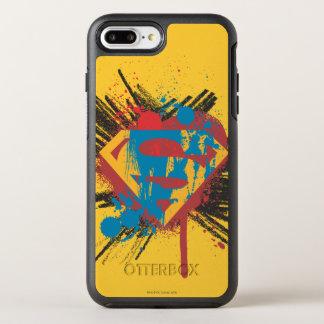 Coque Otterbox Symmetry Pour iPhone 7 Plus Superman a stylisé le logo d'éclaboussure de |