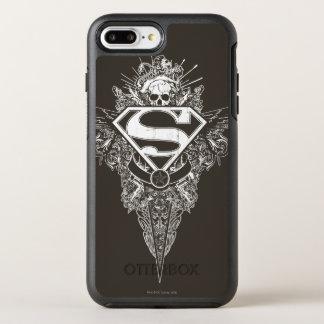 Coque Otterbox Symmetry Pour iPhone 7 Plus Superman a stylisé le logo d'étoile et de crâne de