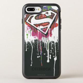 Coque Otterbox Symmetry Pour iPhone 7 Plus Superman a stylisé le logo d'innocence tordu par  