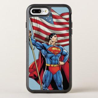 Coque Otterbox Symmetry Pour iPhone 7 Plus Superman tenant le drapeau des USA