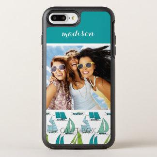 Coque Otterbox Symmetry Pour iPhone 7 Plus Voiliers sur le motif   de l'eau votre photo et