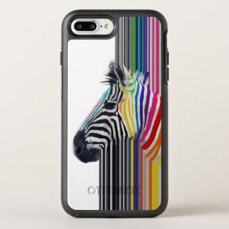 Coque Otterbox Symmetry Pour iPhone 7 Plus zèbre vibrant coloré à la mode impressionnant de