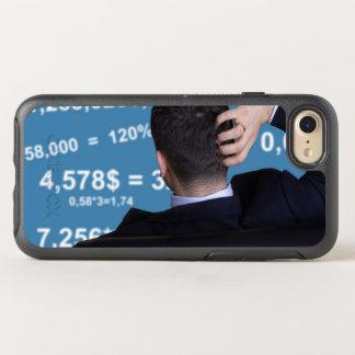 Coque Otterbox Symmetry Pour iPhone 7 Portrait arrière d'un homme d'affaires confus avec