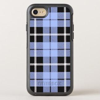 Coque Otterbox Symmetry Pour iPhone 7 Rayure blanche de ciel de bébé/noire bleu-clair