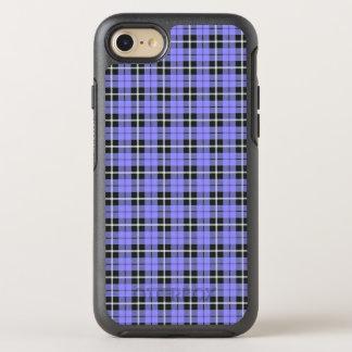 Coque Otterbox Symmetry Pour iPhone 7 rayure blanche de ciel de lavande/noire bleu-clair