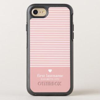 Coque Otterbox Symmetry Pour iPhone 7 Rayures modernes avec le monogramme classieux de