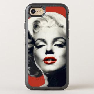 Coque Otterbox Symmetry Pour iPhone 7 Rouge sur les lèvres rouges Marilyn