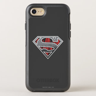 Coque Otterbox Symmetry Pour iPhone 7 S-Bouclier logo gris et rouge de | de Superman de