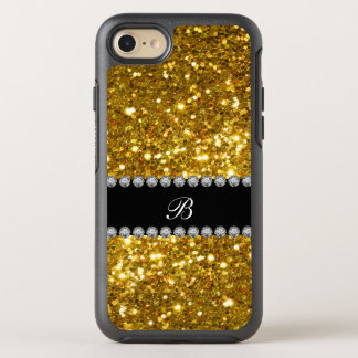 Coque Otterbox Symmetry Pour iPhone 7 Scintillement chic de monogramme d'or