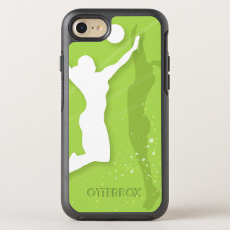 Coque Otterbox Symmetry Pour iPhone 7 Silhouette de deux femmes jouant au volleyball
