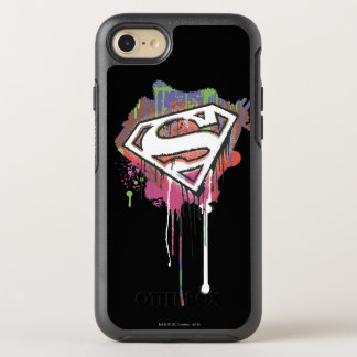 Coque Otterbox Symmetry Pour iPhone 7 Superman a stylisé le logo 2 d'innocence tordu par