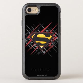Coque Otterbox Symmetry Pour iPhone 7 Superman a stylisé | logo noires et de rouge de
