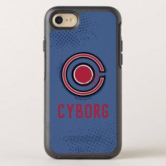 Coque Otterbox Symmetry Pour iPhone 7 Symbole de cyborg de brosse et d'image tramée de