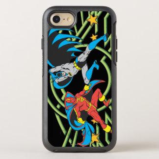 Coque Otterbox Symmetry Pour iPhone 7 Tornade rouge + Batman