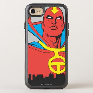 Coque Otterbox Symmetry Pour iPhone 7 Tornade rouge derrière le paysage urbain