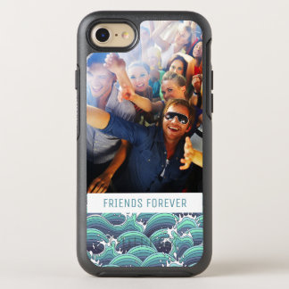 Coque Otterbox Symmetry Pour iPhone 7 Vague décorative de mer de photo et de textes