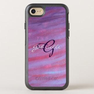 Coque Otterbox Symmetry Pour iPhone 7 Zèbre pourpre de la technologie   de rose