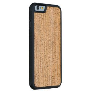Coque Pare-chocs En Cerisier iPhone 6 Cas en bois de téléphone d'impression florale