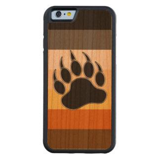 Coque Pare-chocs En Cerisier iPhone 6 Couleurs de fierté d'ours de patte d'ours