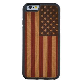 Coque Pare-chocs En Cerisier iPhone 6 Drapeau américain