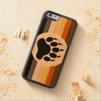 Coque Pare-chocs En Cerisier iPhone 6 Drapeau de fierté d'ours et patte d'ours
