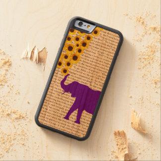 Coque Pare-chocs En Cerisier iPhone 6 Éléphants, tournesols et Jane Eyre