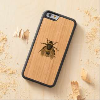Coque Pare-chocs En Cerisier iPhone 6 Illustration antique d'abeille
